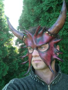 Horned Devil Leather Mask1 by Skinz-N-Hydez.deviantart.com on @deviantART