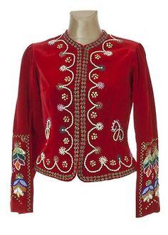 Jackets of the folk costume from Rzeszów region, Poland.