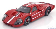 Ford GT40 MK4, 1967, rot/weiss. Shelby Collectibles, 1/18, No.420. 55€