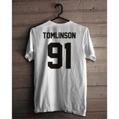 Louis Tomlinson Shirt, Tomlinson 91 T-shirt, One Direction T shirt,... ($17) ❤ liked on Polyvore featuring tops, t-shirts, shirt top, woven cotton shirt, cotton t shirts, unisex tees and cotton shirts