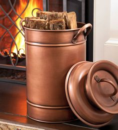 Copper Milk Can... Mine stays red year round but thinking of doing this in the fall!