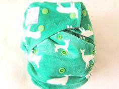 KaWaii  MOM Label Charcoal Bamboo OS Reindeer,  - $19.50 - Green Baby Planet