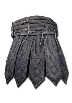 Armour Skirt Tenebra , black - Greaves & Tassets - Leather Armour - Armour