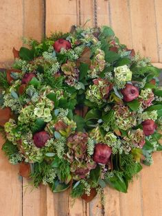 So much, so many wreaths! Perfect decor for your Front hallway - a beautiful piece to welcome the season, again and again! info@fromthepottingshed.com #wreaths #wreath #everlasting
