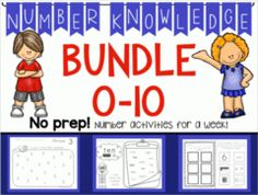 Number Knowledge Bundle: 0-10 - Each number comes with activities that can last a week or more!.  A GIVEAWAY promotion for *BUNDLE* Number Knowledge: Numbers 0-10 (NO PREP!) from Wise Little Owls on TeachersNotebook.com (ends on 3-28-2015)