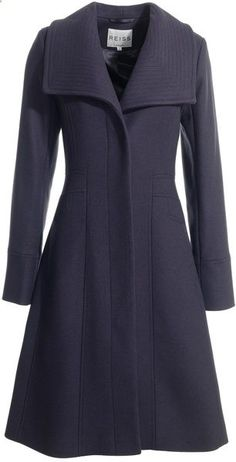 Reiss Gray Fit and Flare Coat