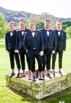 Navy and Wine Fall Wedding Color Inspirations: White bride with wine bouquets, Bridesmaids in wine dresses, navy suits and wine ties for groom and groomsmen, navy and wine wedding invitations… Colorful Wedding Shoes, Blue Wedding Shoes, Fall Wedding Colors, Burgundy Wedding, Navy Groomsmen, Groomsmen Socks, Groomsman Attire, Groom Suits, Navy Bow Tie