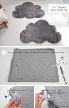 No-Sew Cutout Cloud Mat Craft