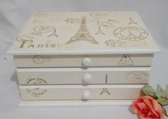 Cômoda Porta Jóias Paris France Bijoux