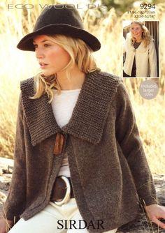 the online pattern store Crochet Jacket, Knit Jacket, Knit Cardigan, Knit Crochet, Knitting Yarn, Hand Knitting, Handgestrickte Pullover, Pulls, Dame