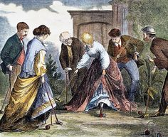 1866 The Game of Croquet Published by Harper's Weekly. 1866 detail