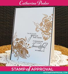 A Beautiful World Stamp set from the Beautiful World Stamp of Approval Collection. www.cpstampofapproval.com