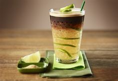 In the midst of a busy holiday season, take a moment for yourself and enjoy this Caipirinha Coffee recipe from Nespresso. The zesty, sweet lemon flavor is sure to delight your taste buds when paired with the robust Grand Cru Cosi. Cafe Menu, Menu Café, I Love Coffee, Coffee Break, Cafe Nespresso, Coffee Around The World, Irish Coffee, Saveur, Coffee Recipes