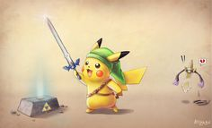 Linkachu's Master Sword by E-Blizard.deviantart.com on @DeviantArt