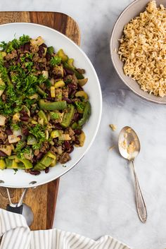 Our Creole Skillet Dinner is ready in 20 minutes! Loaded with protein and hearty brown rice -- nice and satisfying. Get the recipe in our newsletter.