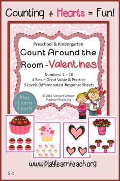 Counting + Hearts = Fun Count Around the Room Valentines $