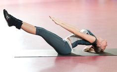 Work your core with this Pilates Workout and workout videos. #workout #abworkout #skinnymsfitness