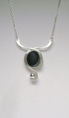 Sea Glass Jewelry Sterling Rare Victorian Sea por SignetureLine