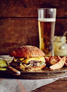 Famous Husk Cheeseburger Recipe When Sean Brock opened Husk restaurant in Charleston, South Carolina, he knew he had to have a cheeseburger on the menu. Now, he's finally sharing the recipe.The Famous Five The Famous Five may refer to: Burger Recipes, Beef Recipes, Cooking Recipes, Drink Recipes, Burger Bar, Burger And Fries, Hamburgers, Cheeseburgers, Cheeseburger Recipe