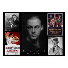 Rudolph Valentino Mashup 34x24 Poster - diy cyo customize create your own personalize