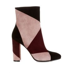 Gianvito Rossi Patchwork ankle boots (€710) ❤ liked on Polyvore featuring shoes, boots, ankle booties, ankle boots, footwear, sapatos, burgundy multi, short suede boots, suede bootie and short boots