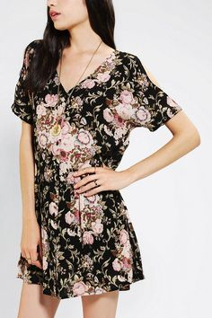 #UrbanOutfitters          #Women #Dresses           #shoulders #crinkled #button-front #ruffled #rayon #content #gauze #button-down #cutouts #stars #babydoll #exclusive #lightweight #floral #hand #print #care #dress #front            Staring At Stars Gauze Button-Front Babydoll Dress  Freshly cut, floral print babydoll dress from Staring at Stars in lightweight crinkled gauze.? Topped with a button-down front and a ruffled, dropped-waist.? Cutouts along the shoulders.? UO Exclusive…