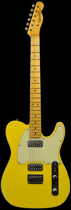Fender 1963 Custom Relic Telecaster Faded Graffiti Yellow w TV Jones