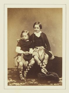 Prince Leopold and Prince Arthur, May 1860 [in Portraits of Royal Children Vol.5 1860-1861] | Royal Collection Trust