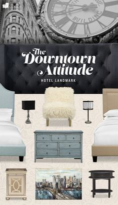 Get inspired by the cool, hip and modern style of our Hotel Landmark bedroom collection. This collection takes its cues from downtown New York architecture.