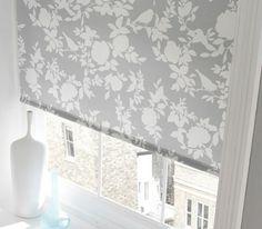 Grey is very much trending at the moment, making this blind a popular choice as it blends with its surrounding while adding just enough decorative detailing to make a pretty feature at the window. From £43. Online at http://www.polesandblinds.com/osprey-duck-egg-roller-blind-1/ #interiordesign #blinds #rollerblinds