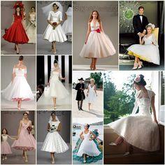 Vintage 50s Wedding Theme   Bridal Style: 50s Style Wedding Dresses - Boho Weddings™