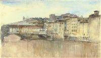Ponte Vecchio, Florence, Italy by John Ruskin