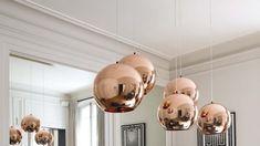 suspension design couleur cuivre salon haut sous plafond Jean-Marc Palisse