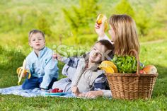 Family on a picnic Royalty Free Stock Photo