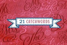 Adorn Smooth Catchwords Font