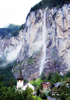 Staubbach Falls, Switzerland. #Travel. Places to Go: http://www.pinterest.com/newdirectionsbh/places-to-go/