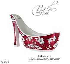 O.M.G. I want one in every flavor! This high heel bath tub is so amazing and completely girlie, I can't stand it! The faucet is at the top of the heel and flows down the arch!
