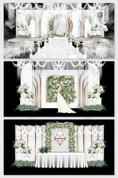 Modern minimalist Mori white marble theme wedding effect picturepikbestDecors am. Modern minimalist Mori white marble theme wedding effect picturepikbestDecors amp; ModelsWedding DecorEuropean is par. Wedding Backdrop Design, Wedding Stage Design, Wedding Stage Decorations, Wedding Designs, Champagne Wedding Colors, Wedding White, European Wedding, Wedding Scene, 3d Models