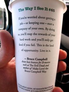 The way Bruce Campbell sees it