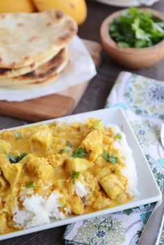 Thai Mango Chicken Red Curry with Coconut Rice