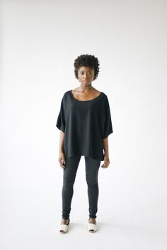 We think we might have found your new favorite shirt. Introducing the HDH  Basics Short-Sleeve Top. The flattering drape and silhouette allows you to  move freely and feel comfortable when out and about. Wear to a baseball  game on a hot day with the family, dress it up with your favorite necklace  at night, or layer it with one of our limited-edition kimonos or sweaters  when it's cold. No matter how you choose to wear it, this piece is sure to  become a staple in your closet.  All our…
