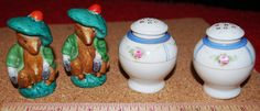 Beautiful pre WW2 Nippon Porcelain Salt and Pepper Shaker and later Peter Rabbit  Salt and Pepper Shakers! by ourPastourFuture on Etsy