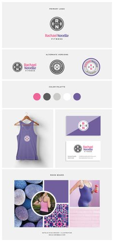 Just wrapped up a fitness logo/branding project for a fabulous personal trainer who also focuses on prenatal fitness. So fun working with pink and purple with this brand.