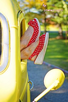 I have shoes like these and a lime green slug bug VW ~ I think I ready for summer