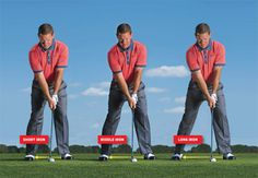 Long iron or short, the low point of your swing will stay the same.