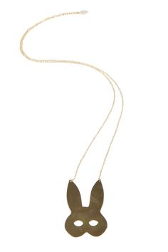 Gold-plated rabbit mask necklace. This necklace is cute and alluring all at once. Gold-Plated Rabbit Mask Necklace by f_licie aussi. Accessories - Jewelry - Necklaces Bastille, Paris