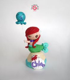 Sirena pastel de cumpleaños torta infantil por GinaCarrascoHandmade