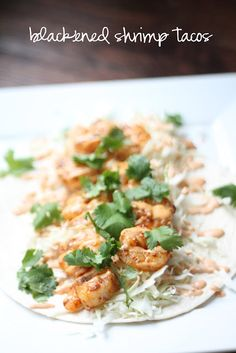 baked in the south: Blackened Shrimp Tacos with Chipotle Aioli