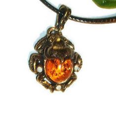 Insect jewelry amber Pendant beetle necklace beetle scarab