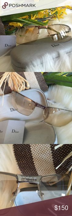 Christian Dior Christian Dior Sunglasses! Shades Look Brand New! No Visible Scratches that I can see! Case is a little dirty but probably could be cleaned. These are Very Nice and Well taken Care Of! VERY STYLISH💋 Christian Dior Accessories